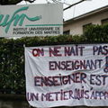 blocage IUFM à Grenoble