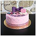 Gâteau thème princesse maquillage