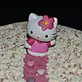 Fraisier chocolat blanc hello kitty