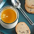 Panna cotta pomme marrons, sirop de châtaigne & biscuits aux brisures de marrons