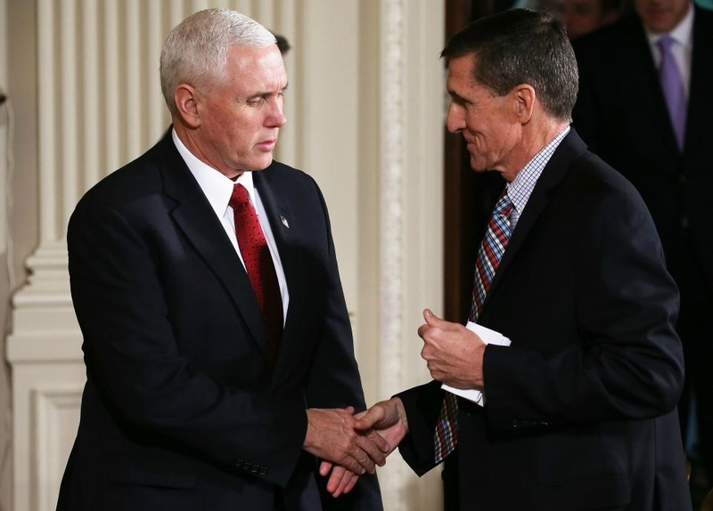 Mike Pence VP with Michael Flynn