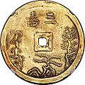 Annam, tu duc gold 3 tien nd (1848-83)