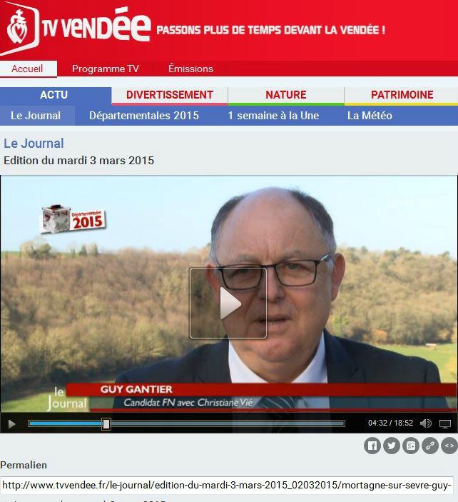 Candidats FN : Mortagne-Sur-Sevre -Guy Gantier et Christiane Vie -Départementales 2015