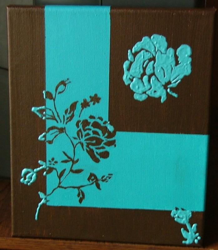 Turquoise et chocolat for Decoration de table bleu turquoise