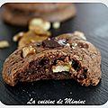 Cookies 100% chocolat... du croustillant, du moelleux et de généreuses chunk de chocolat