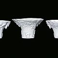 Three small Blanc de Chine porcelain libation cups, China, Dehua, Qing Dynasty, 18th century