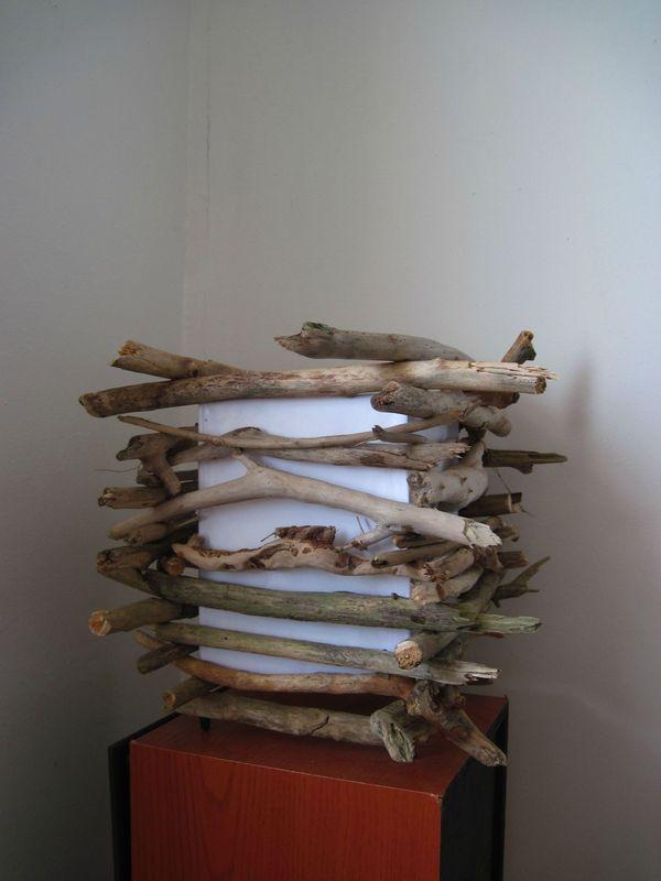 1re lampe pos carr en petit bois flott 02 d cor r cup for Petit bois flotte