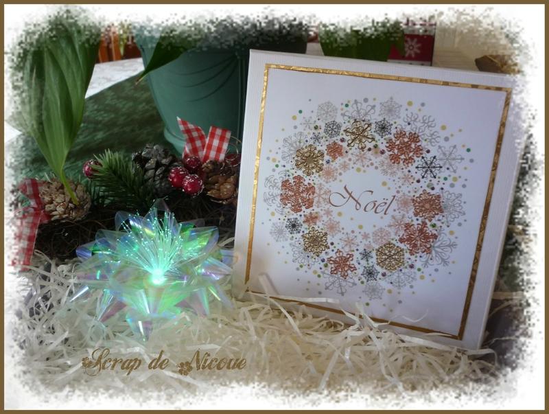 Coffret de 5 cartes Noël doré