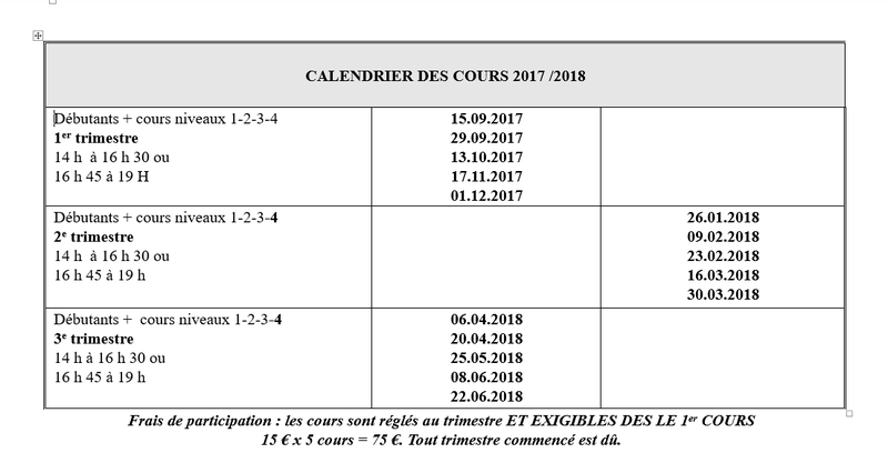 2017-2018COURS