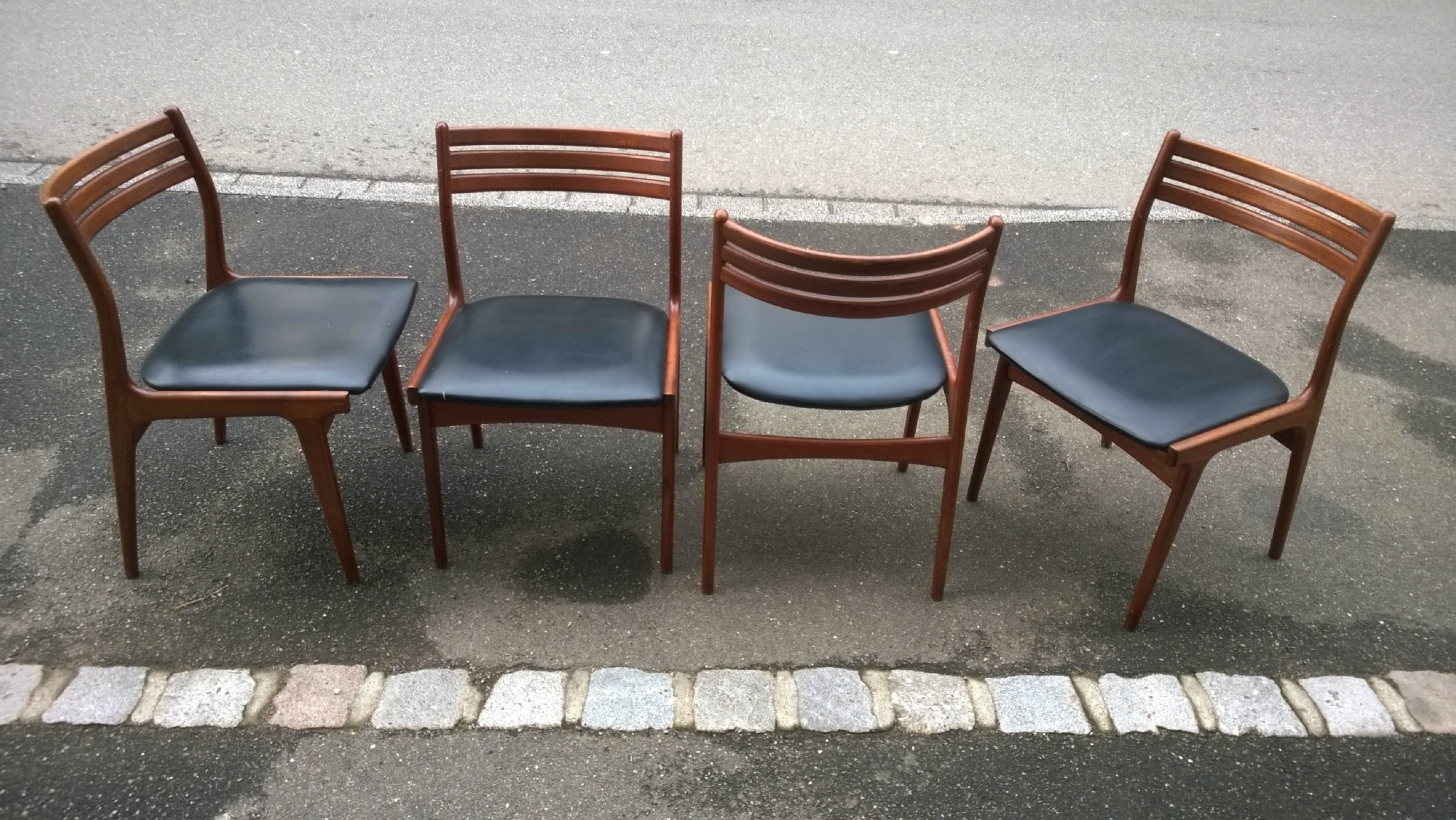 6 chaises scandinave en teck n koefoeds vintage 1965 for 6 chaises scandinaves