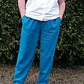 Pantalon sunny en lin canard