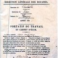 Document Enrigistrant le passage à la Douane