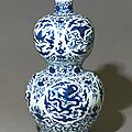 Blue-and-white double-gourd vase, ming dynasty, jiajing mark and period (1522 - 1567)