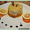 BRANDADE DE MORUE, ECRASEE DE POMMES DE TERRE ET PUREE DE CAROTTES