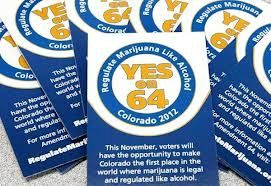 cannabis yes on A-64 poster