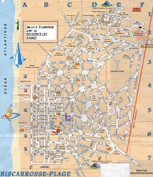 Photo-carte-plan-biscarrosse-plage