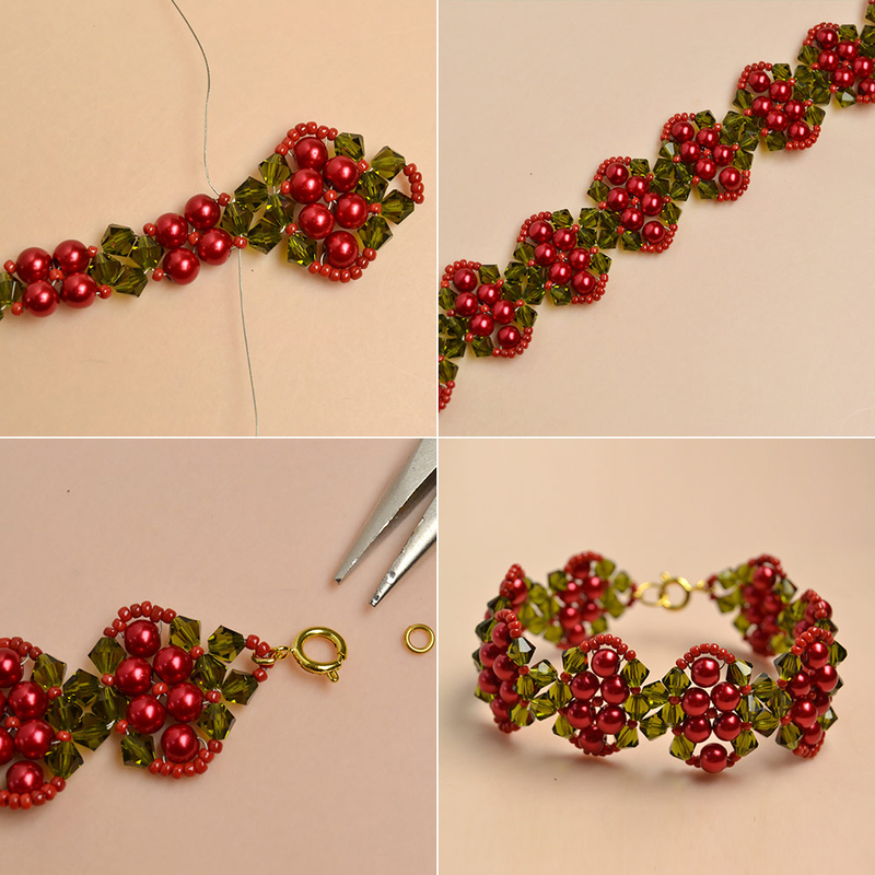 How-to-Make-a-Beaded-Christmas-Bracelet-with-Glass-Beads-and-Seed-Beads-6