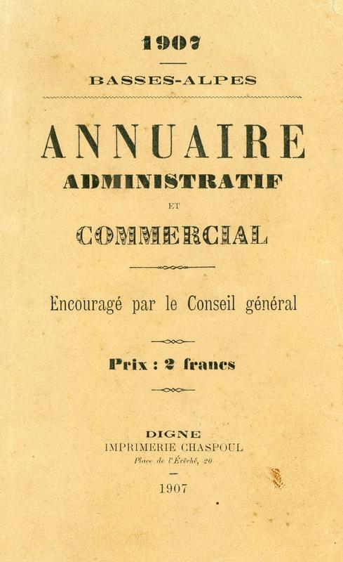 Annuaire BA 1907 couverture