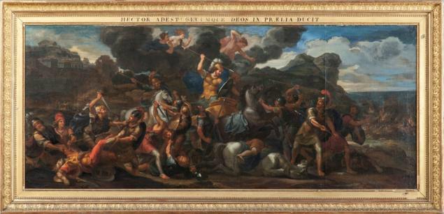 René Antoine Houasse (Paris, 1645-1710). Le combat d'Hector contre Ajax