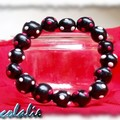 bracelet noir à pois rose et blanc