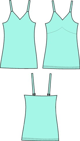 Bra-makers Supply - Wendy Bra-in-a-tank-top PB-2812