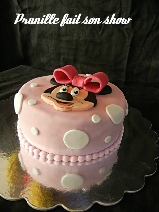 gateau minnie prunillefee