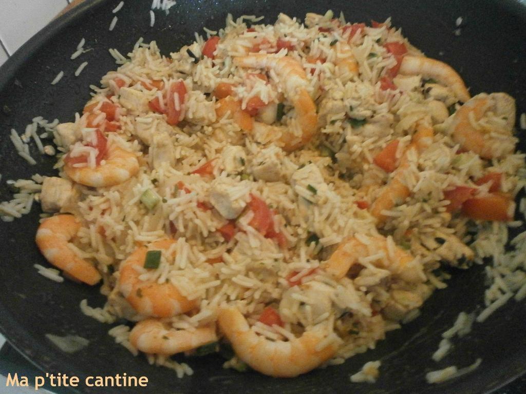 Riz biryani au poulet et crevettes ma p 39 tite cantine - Cuisine indienne biryani ...