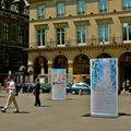 Exposition place du Palais Royal.