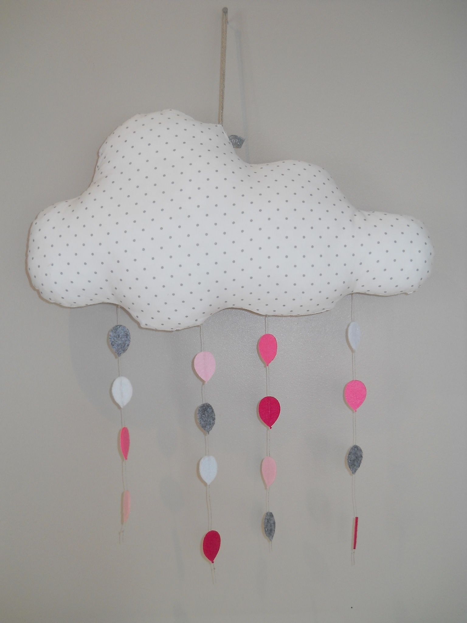 D coration nuage blanc et rose photo de d co coton - Boutique de decoration en ligne ...