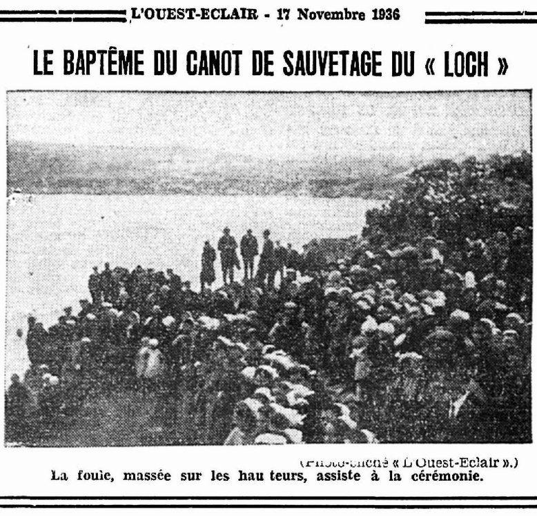 CH14 - Presse Ouest Eclair - Inauguration du Bateau de sauvetage CV de Kerros