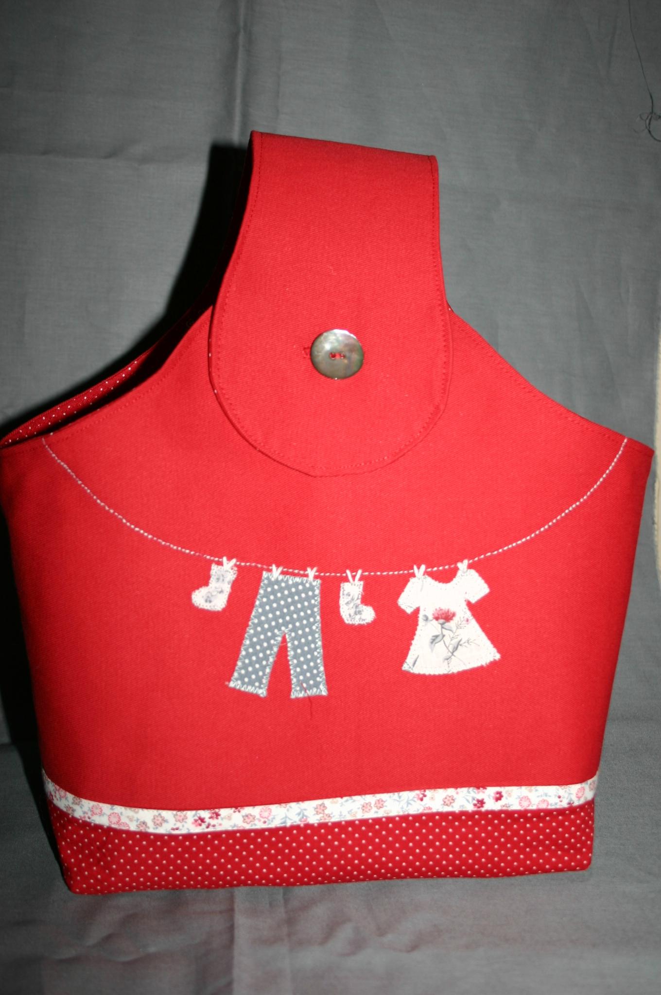 sac pinces à linge rouge 030