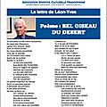 La lettre de léon-yves bohain ,juin 2017