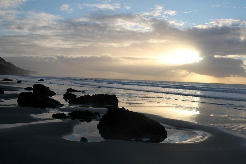4-Normandie - Etretat, plage, coucher de soleil_0586