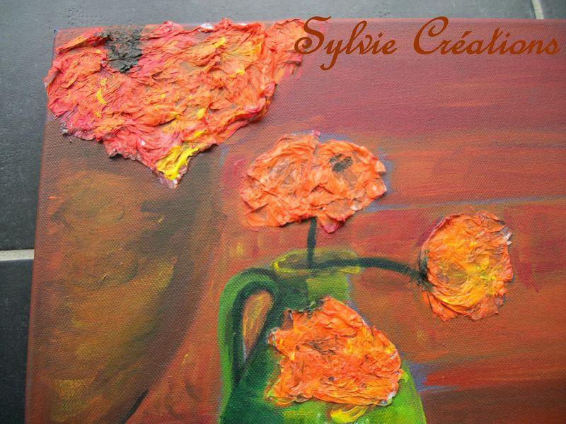 Un tableau avec du papier de soie sylviecreations for Tableau avec papier peint