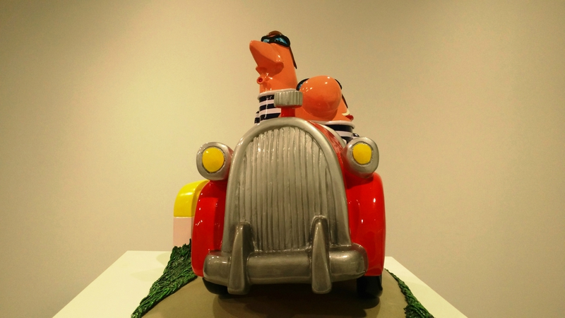 Deux nigauds dans une voiture (sculpture) - Hervé Di Rosa