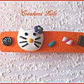280 - Barette Hello Kitty orange