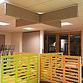 Ecrans, panneaux et nappes acoustiques cantine2