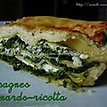 Lasagnes épinards-ricotta