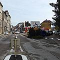 La rue de l'eglise au croisement de la rue de belfort