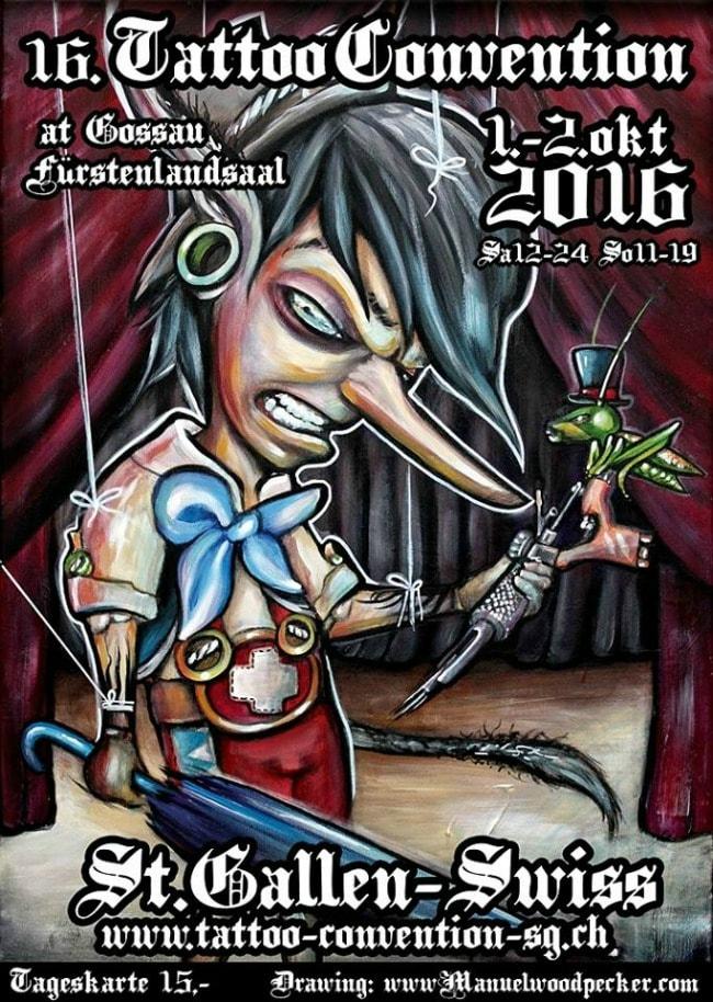 16 Tattoo Convention de Saint-Gall 01 - 02 Octobre 2016