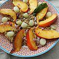 Salade de quinoa, nectarine, melon § basilic