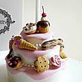 Détail du gâteau pour une gourmande, encore !