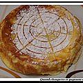 Gâteau au fromage blanc et aux poires