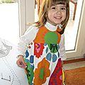 La robe des 2 ans.