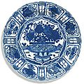 A chinese blue and white 'kraak' dish, ming dynasty, wanli period
