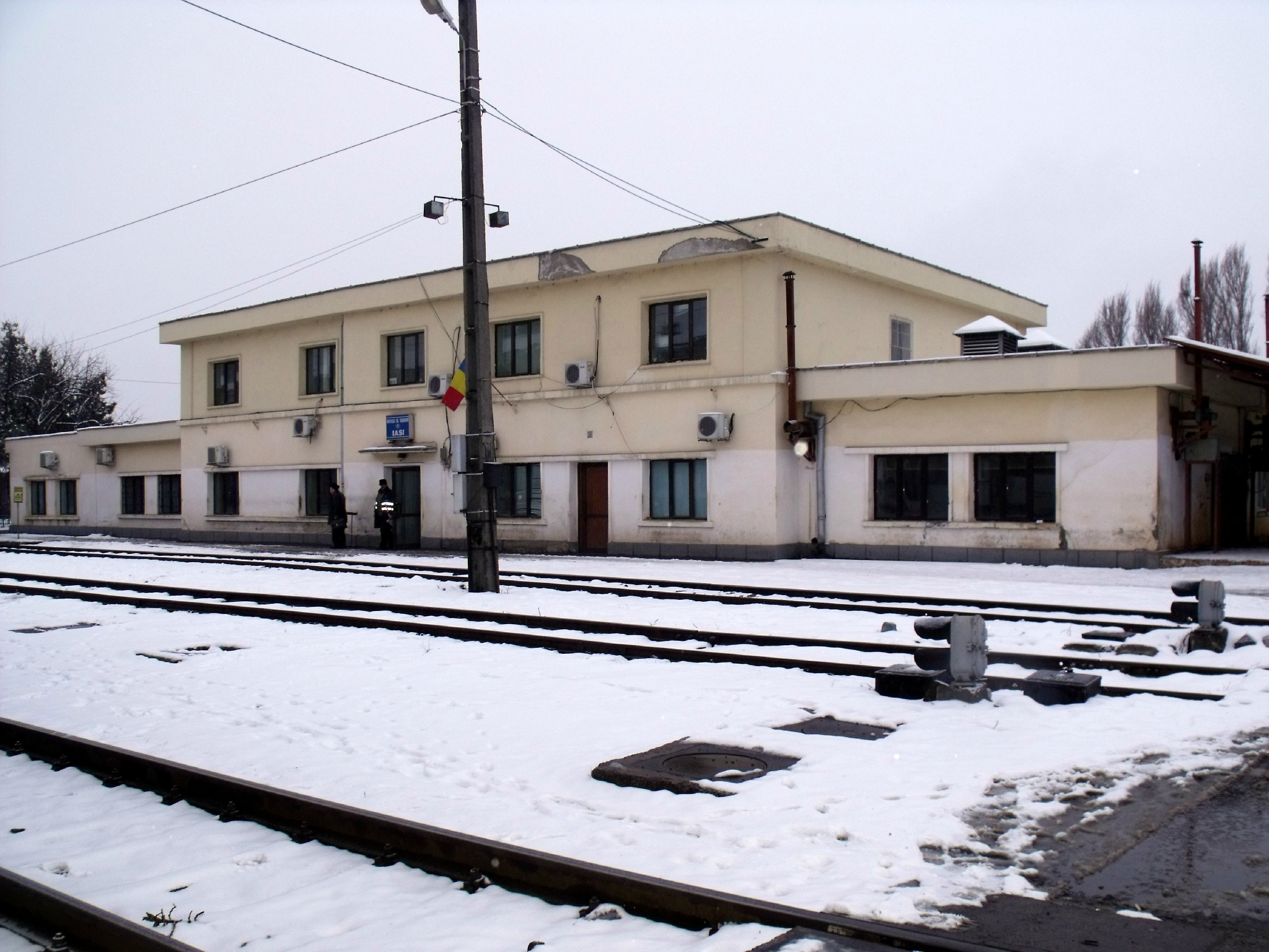Iasi (Roumanie) Centre de révision de voitures voyageurs