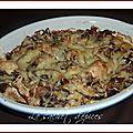 Gratin de champignons à la crème d'ail