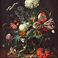 Jan davidsz. de heem (1606–1683/1684), vase of flowers, c. 1660