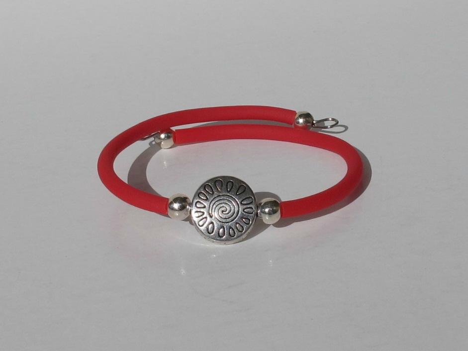bracelet soleil buna cord rouge fil mémoire