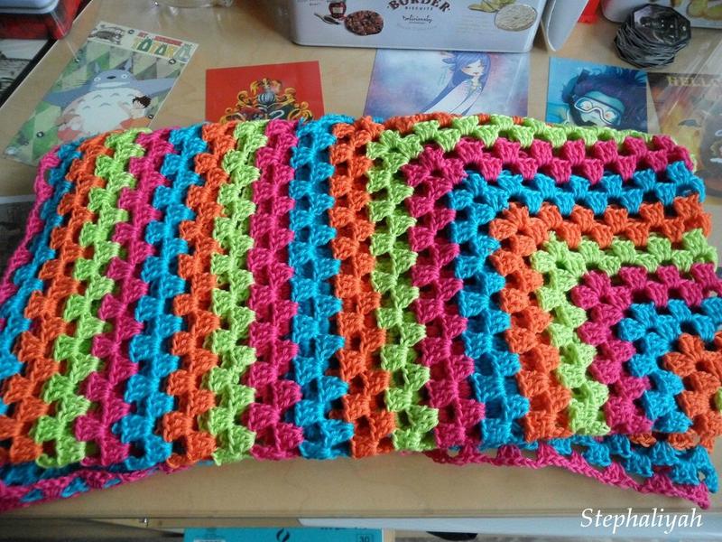 Plaid crochet - 2